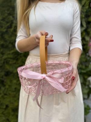 Корзина для яиц розовая, 18.5 см - заказ и доставка цветов Киев