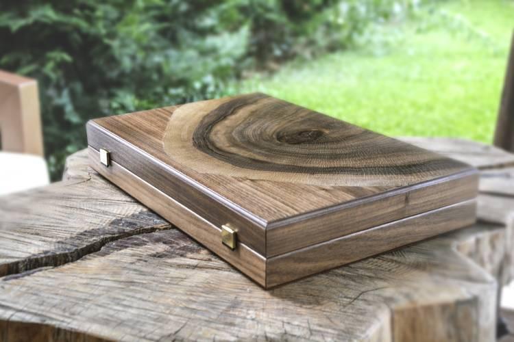 Нарды ручной работы из натурального ствола дерева грецкого ореха, L