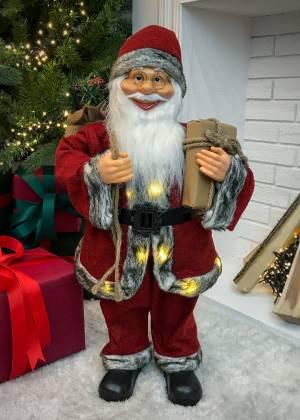 Санта стоит, красный/бежевый/белый, ткань, 20 L... - заказ и доставка цветов Киев