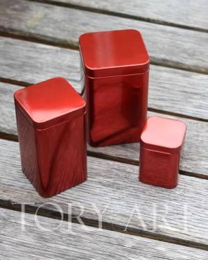 Коробка метал красный , 10 см - заказ и доставка цветов Киев