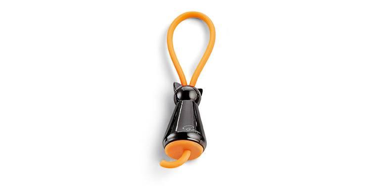 Брелок для ключей Котик черный