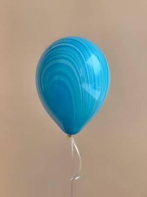 Шар воздушный Агат фиолетово-голубой - заказ и доставка цветов Киев