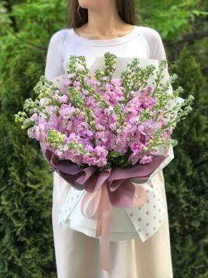 Букет 35 розовых маттиол - заказ и доставка цветов Киев