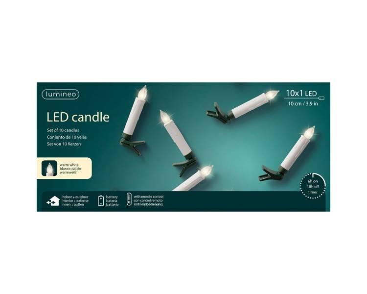 Светодиодные свечи с пультом управления 10 см
