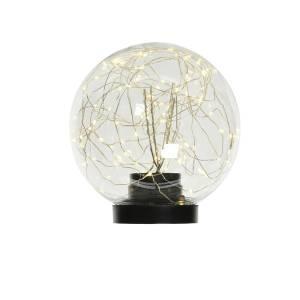 Шар настольный с LED гирляндой внутри серебро/т... - заказ и доставка цветов Киев