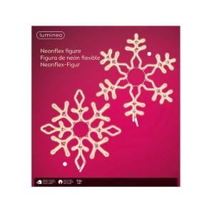 Неоновая LED снежинка тёплый белый 35 см - заказ и доставка цветов Киев