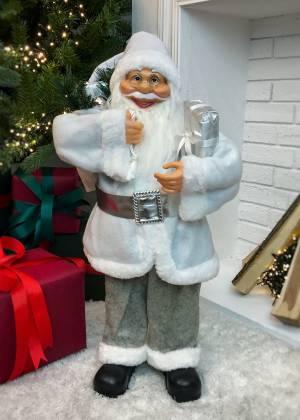 Новогодняя фигурка Санта белый с подарком, 20 L... - заказ и доставка цветов Киев