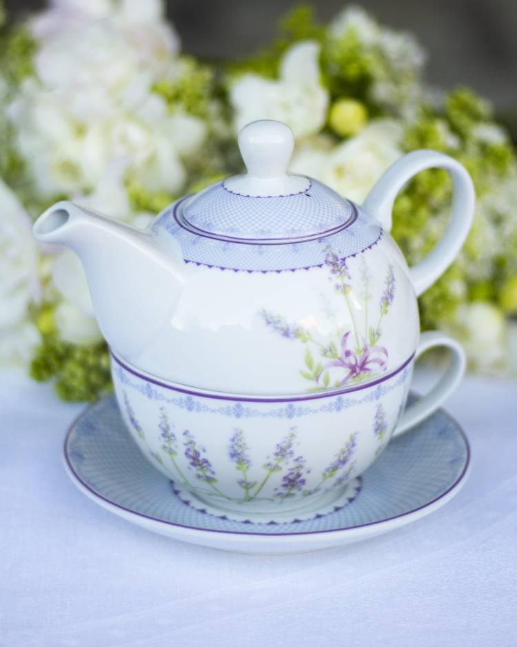 Чайник Лаванда- набор  из 3 част