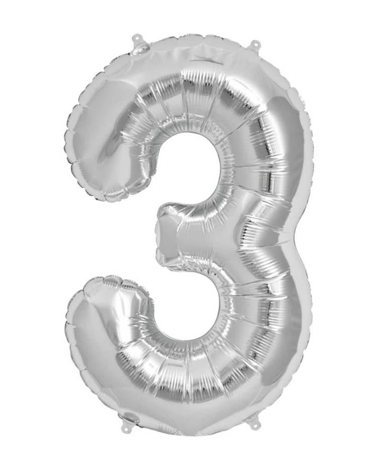 Куля повітряна цифра 3