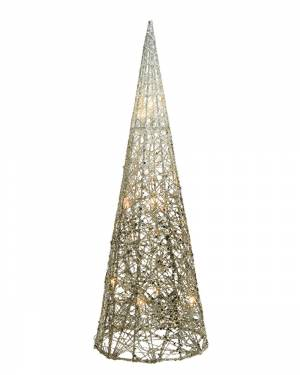 Светодиодный конус бело-золотой провод 23x23x90... - заказ и доставка цветов Киев