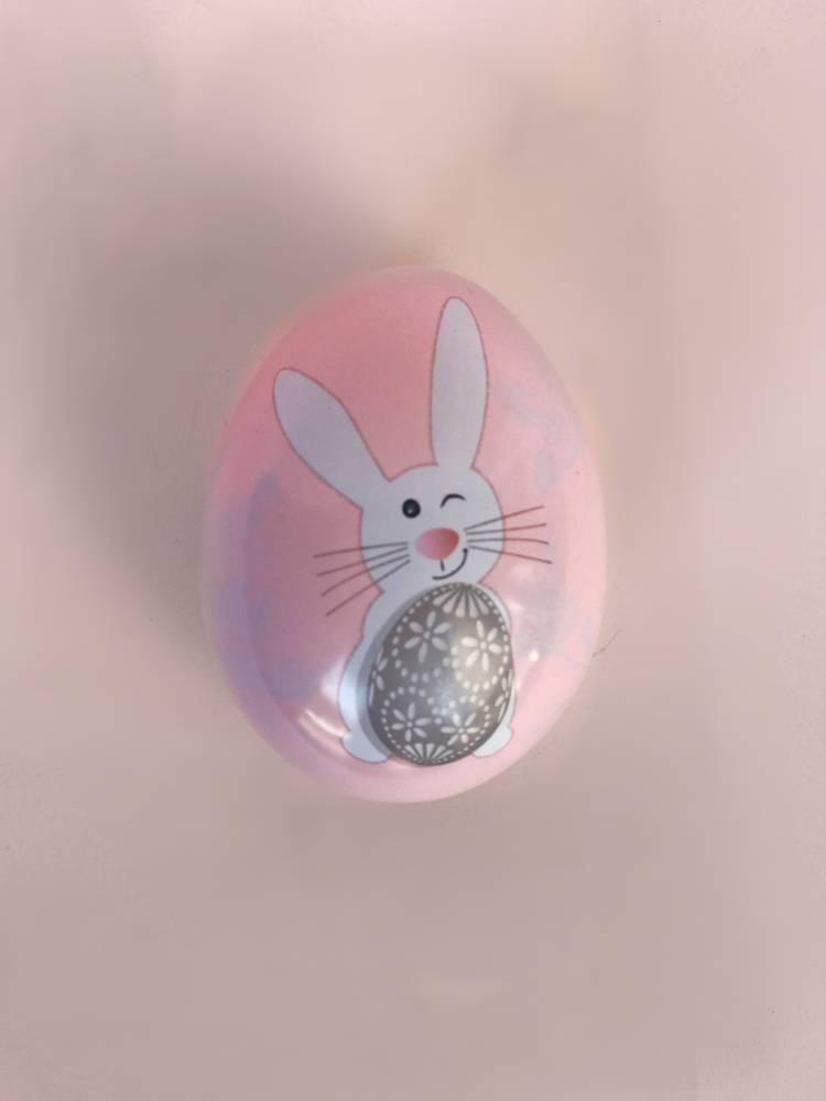Яйцо метал веселий кролик 60x52x53мм