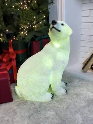 Светодиодная фигура Полярный медведь белый - заказ и доставка цветов Киев