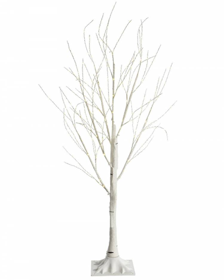 Дерево белое с LED огнями, 180 см