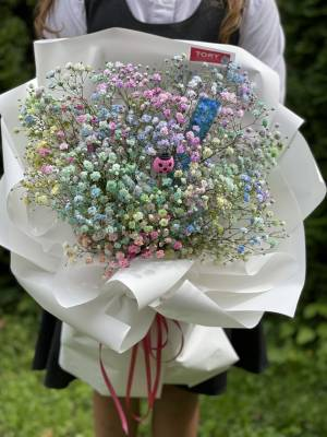 Букет радужная школа - заказ и доставка цветов Киев