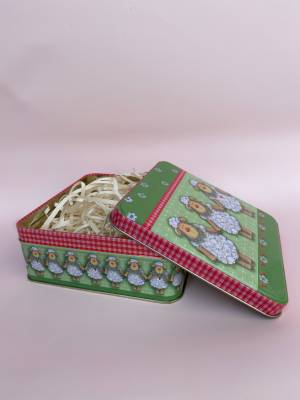Коробка метал Три овечки - заказ и доставка цветов Киев