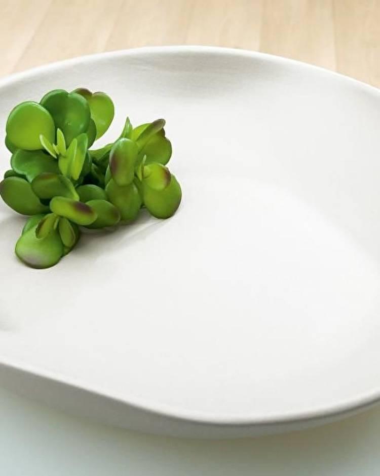 Блюдо керамическое белое, 8,5 см