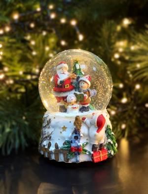 Музыкальная шкатулка /Водный шар Санта 14X10CM - заказ и доставка цветов Киев