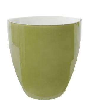 Горшок стеклянный зеленый, 15 см - заказ и доставка цветов Киев