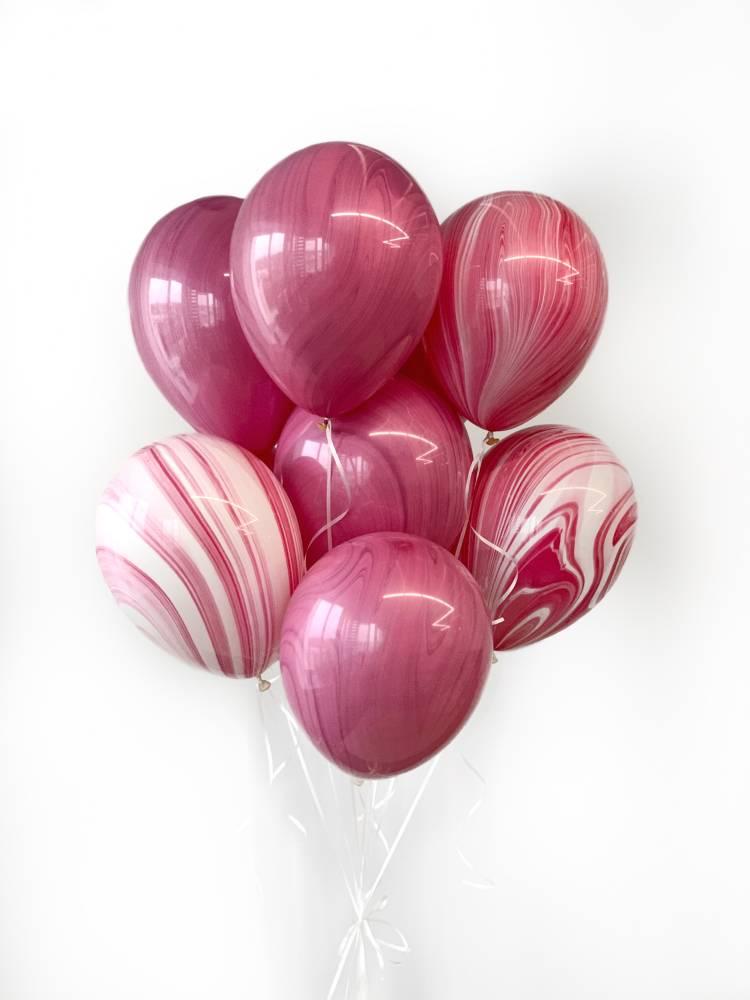 Букет шаров Розовый Агат