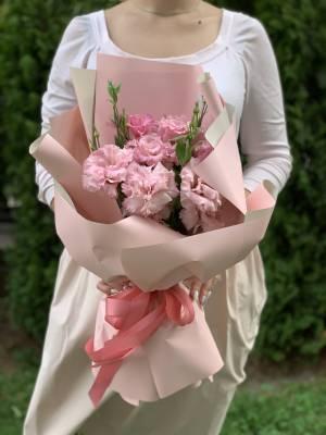 Букет 5 розовых эустом - заказ и доставка цветов Киев
