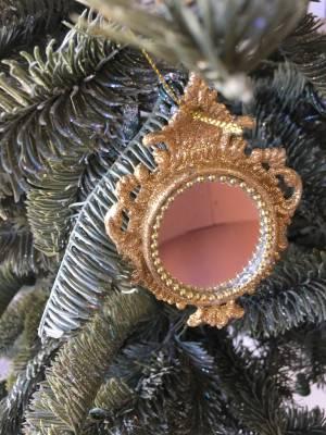Ёлочное украшение Зеркало золото/шампань в ассо... - заказ и доставка цветов Киев