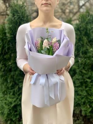 Букет 7 гиацинтов микс - заказ и доставка цветов Киев