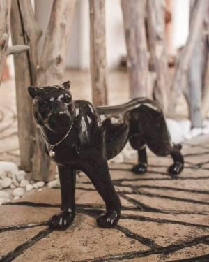 Леопард, блестящий черный, фарфор 15 cм, в ассо... - заказ и доставка цветов Киев