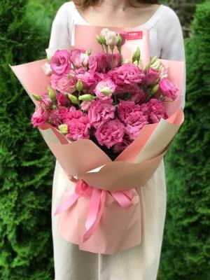 Букет 15 розовых эустом - заказ и доставка цветов Киев