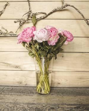 Ваза стеклянная коническая h29 d14 - заказ и доставка цветов Киев