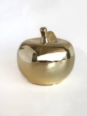 Яблоко керамическое золотое, 17 см - заказ и доставка цветов Киев