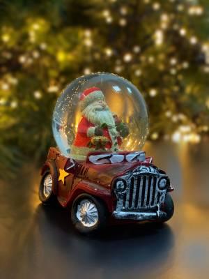 Снежный шар в рождественском стиле в ассортименте - заказ и доставка цветов Киев