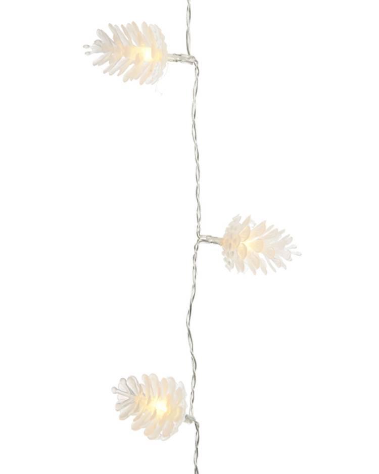 Новогодняя LED гирлянда Шишки 90 см