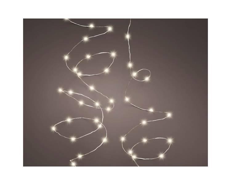 Светодиодная микро-гирлянда тёплый свет 240 см
