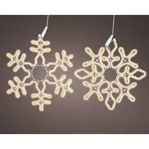 Неоновая LED снежинка тёплый белый 50 см - заказ и доставка цветов Киев