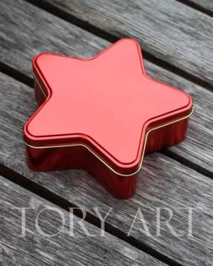 Коробка-звезда красный метал - заказ и доставка цветов Киев