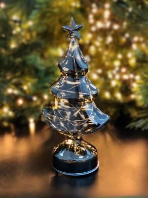 Ёлка-светильник серый, 32 см - заказ и доставка цветов Киев