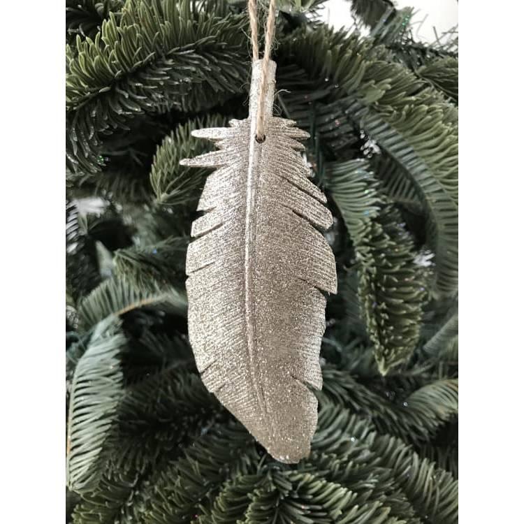 Новогоднее ёлочное украшение Перо Тиффани, 14,5см