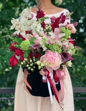 Цветы в бархатном мешочке