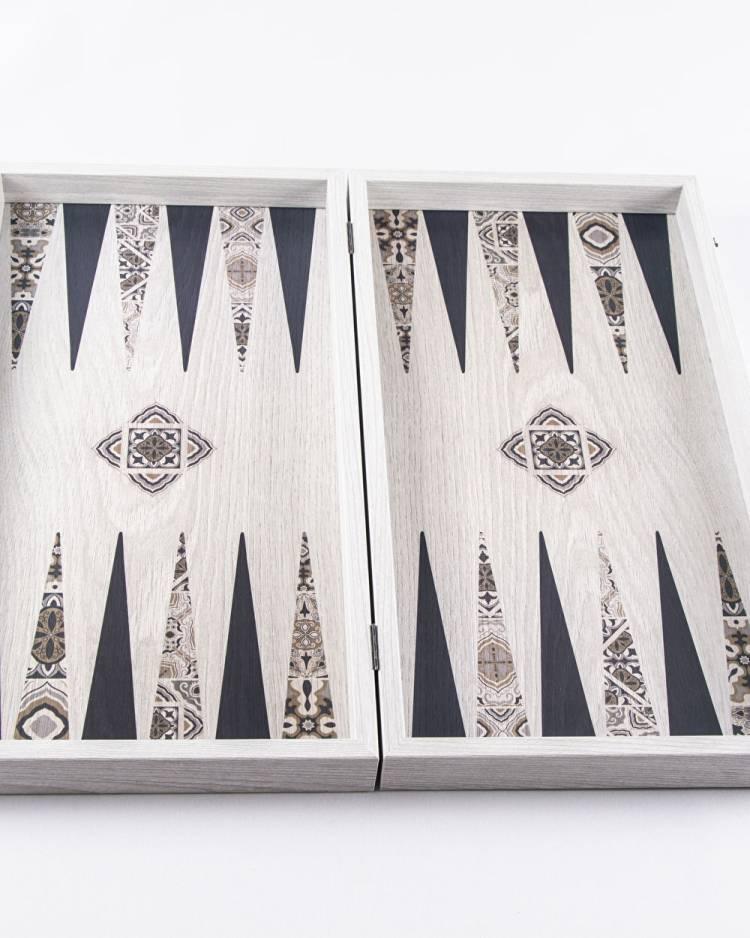 Деревянные нарды ручной работы Марокканское мозаичное искусство, L