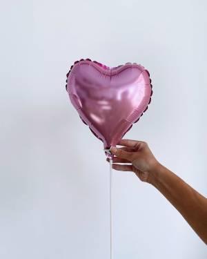 Шар-сердце сатин Розовый - заказ и доставка цветов Киев