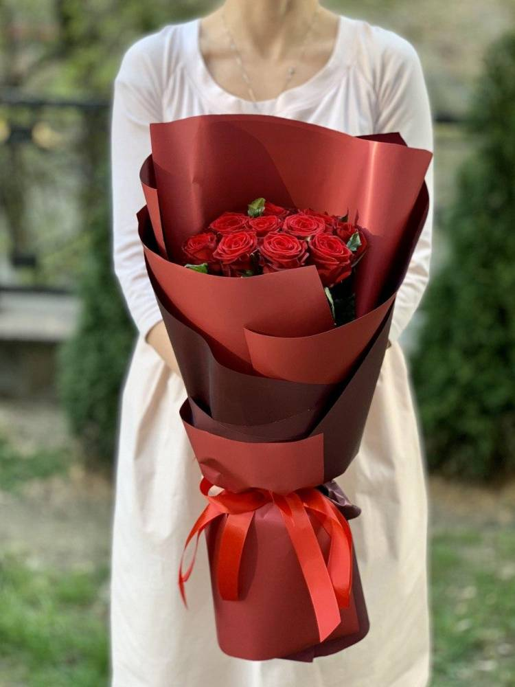 Букет 11 красных роз