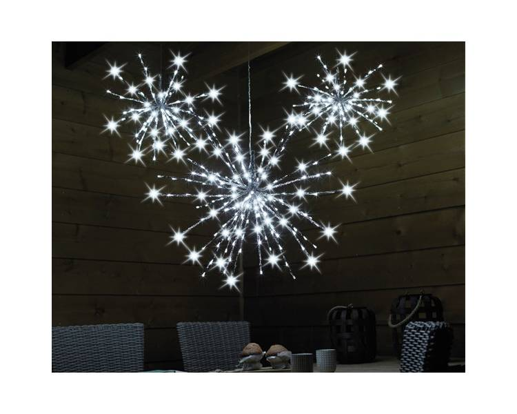 Светодиодная Полярная звезда тёплый белый 70 см 160 LED