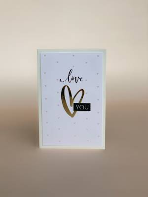 Открытка Love You - заказ и доставка цветов Киев