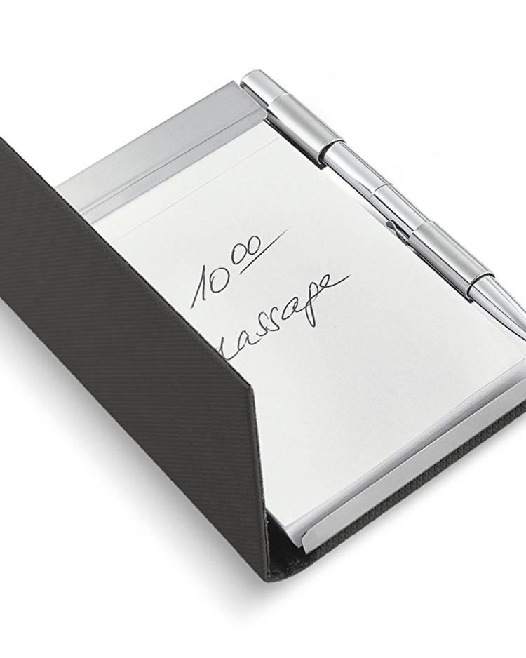 Блокнот Todd с ручкой, серый