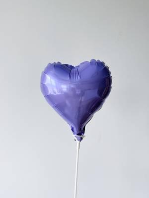 Шар-сердце сатин Лиловый - заказ и доставка цветов Киев