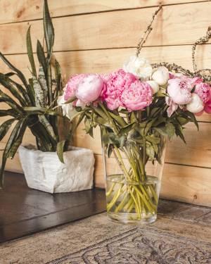 Ваза стеклянная коническая h30 d22 - заказ и доставка цветов Киев