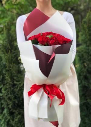 Bouquet of 25  Red Roses - заказ и доставка цветов Киев