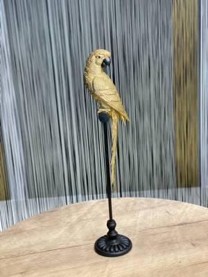 Декор Попугай на жердочке золото - заказ и доставка цветов Киев