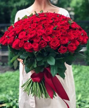 Букет 201 роза красная Престиж - заказ и доставка цветов Киев