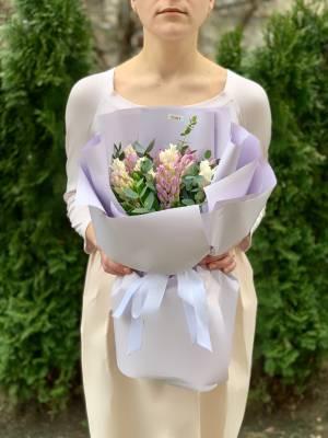Букет 15 гиацинтов микс - заказ и доставка цветов Киев